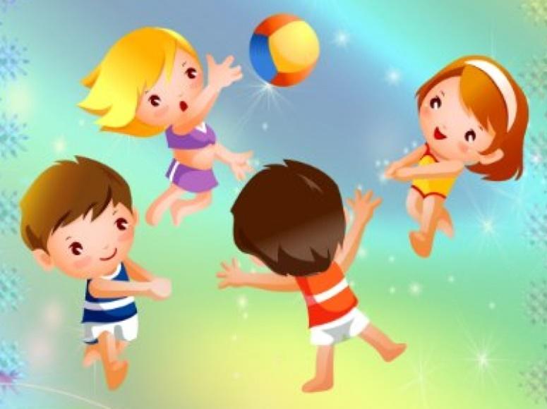 Картинка дети играют в подвижные игры, поздравление днем