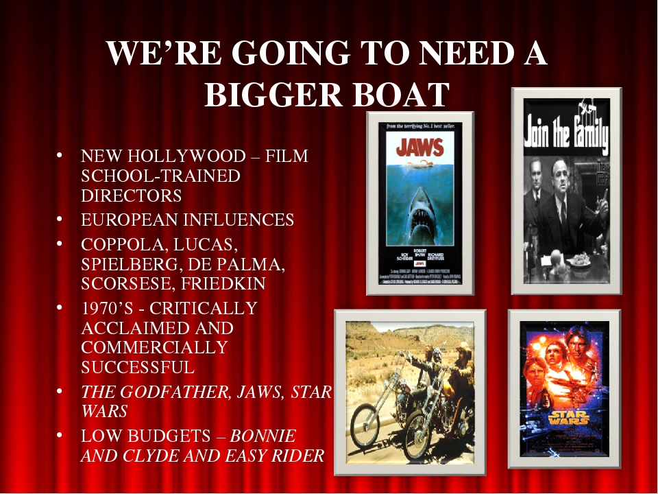 WE'RE GOING TO NEED A BIGGER BOAT NEW HOLLYWOOD – FILM SCHOOL-TRAINED DIRECTO...