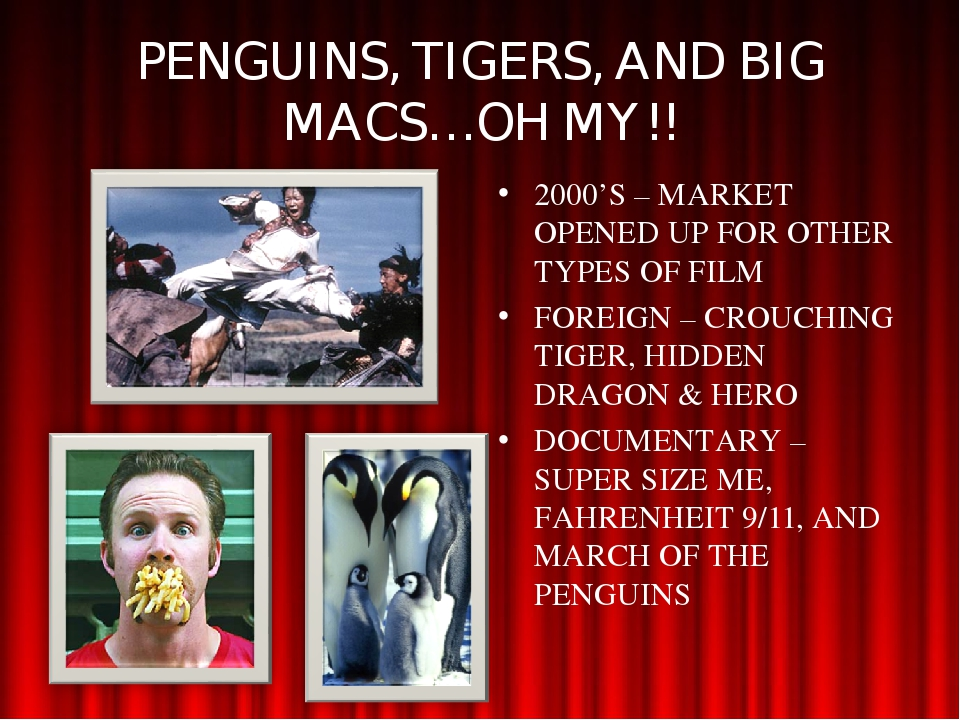 PENGUINS, TIGERS, AND BIG MACS…OH MY!! 2000'S – MARKET OPENED UP FOR OTHER TY...