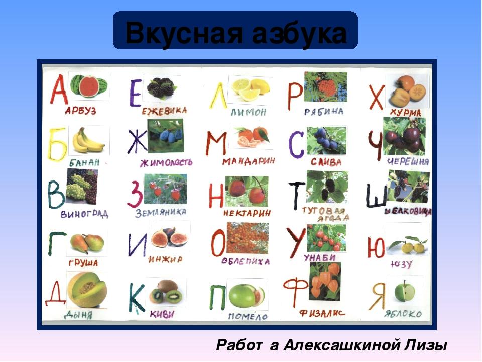 это азбука фрукты с картинками индекс села