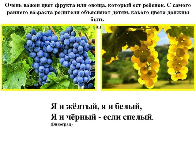 Очень важен цвет фрукта или овоща, который ест ребенок. С самого раннего возр...