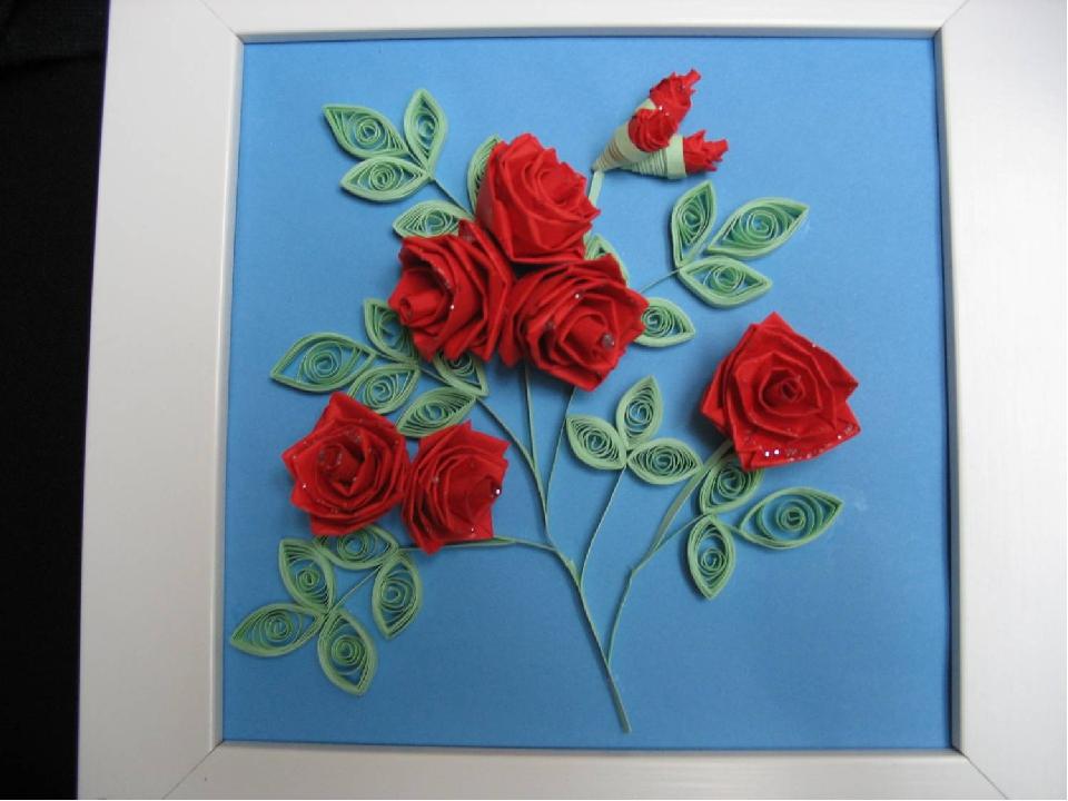 Роза для мамы своими руками