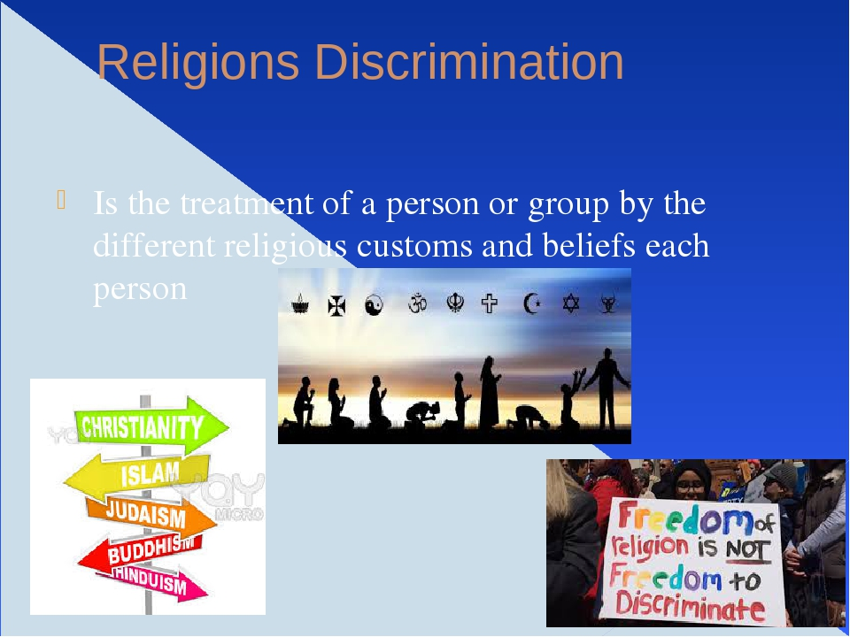 discrimination other religions