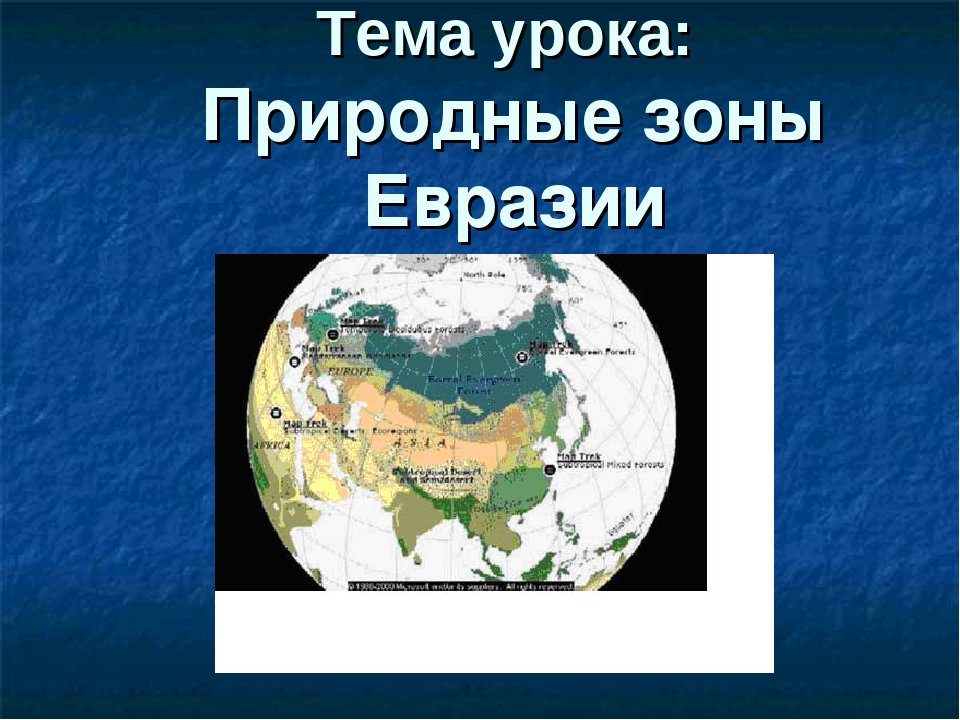Презентация Про Природные Зоны Евразии