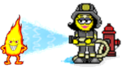 Картинка анимация пожарный