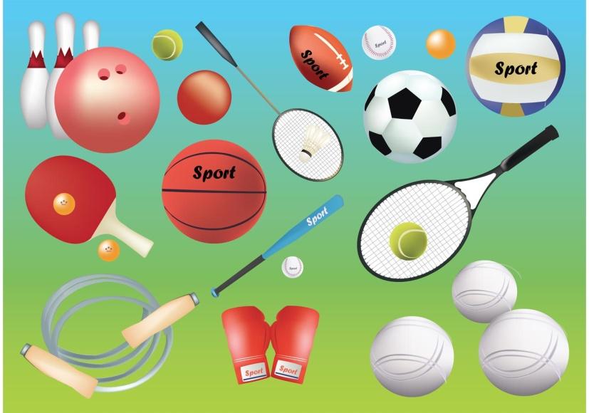 спортивные предметы картинки мультяшные народов