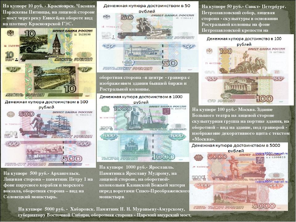какие картинки обозначены на купюрах россии шипы, ядовитые