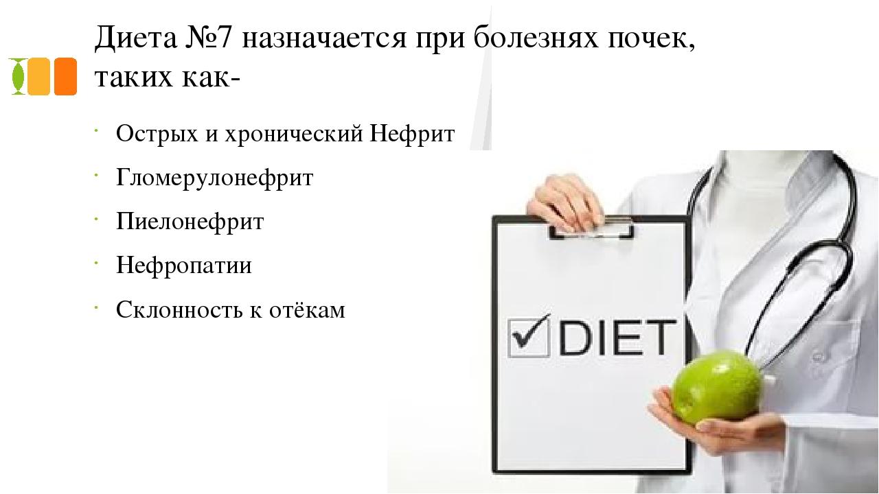 Стол номер 7 диета для почек ограничения