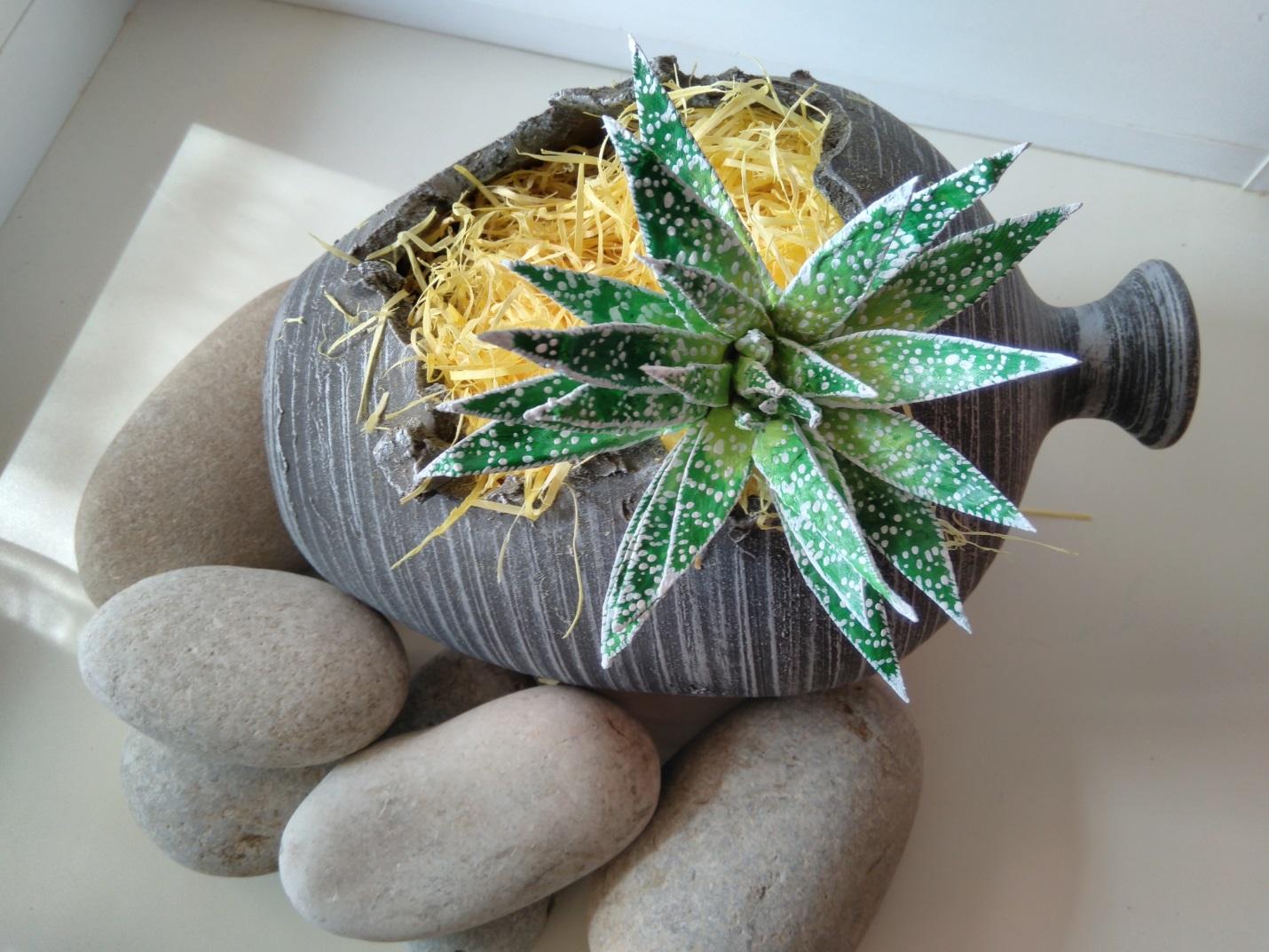 Имитация декоративного камня из яичных лотков. Обсуждение на 68