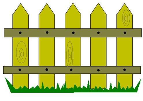Картинки для малышей забор