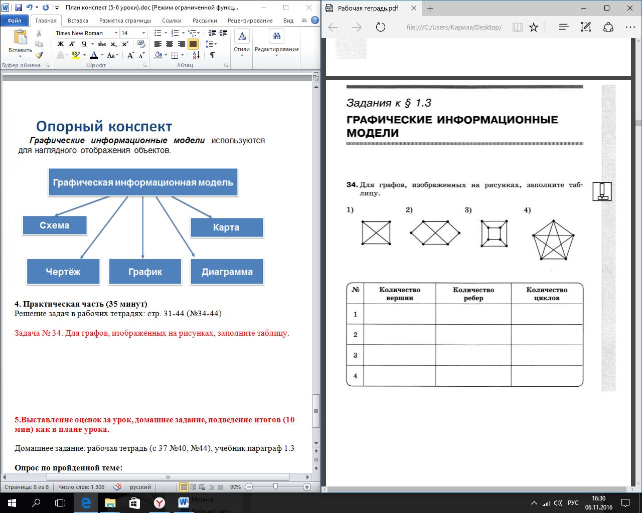 практическая работа построение графических моделей