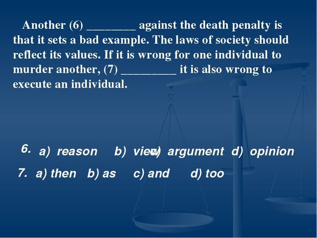 arguments for the death penalty essay