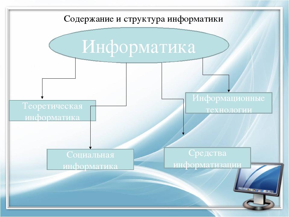 Информатика Теоретическая информатика Средства информатизации Информационные...