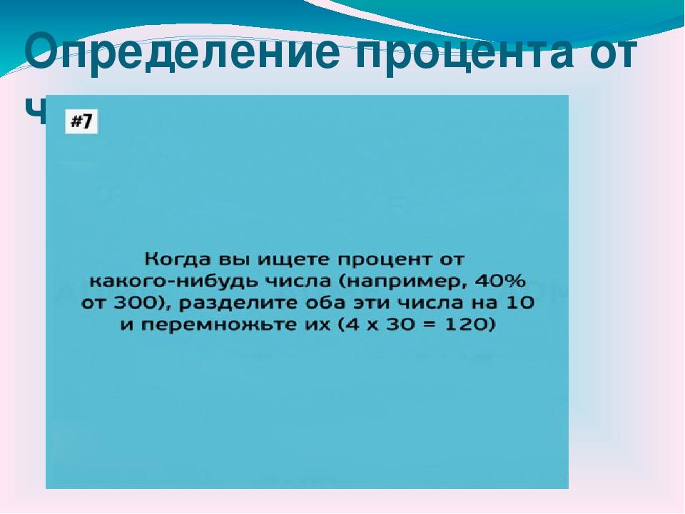 Определение процента от числа