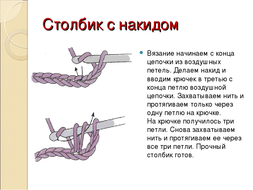 Вязание крючком прочный столбик 372