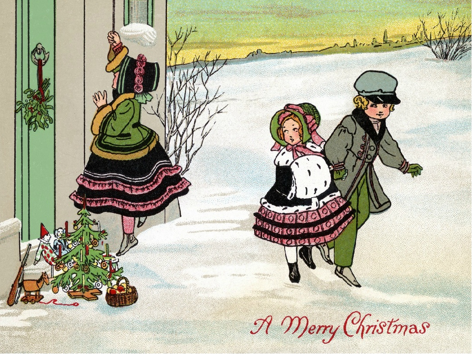 Сувениры, открытки на рождество по английски