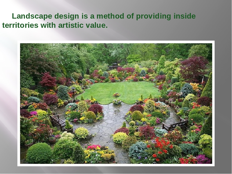 Landscape design is a method of providing inside territories with artistic v...