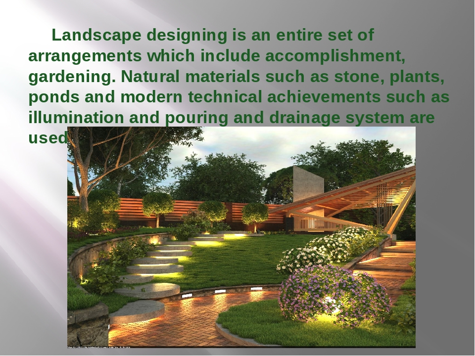 Landscape designing is an entire set of arrangements which include accomplis...