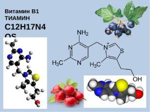 Витамин B1 ТИАМИН C12H17N4OS
