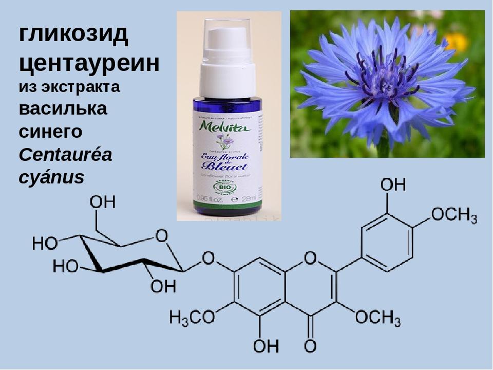 гликозид центауреин из экстракта василька синего Centauréa cyánus