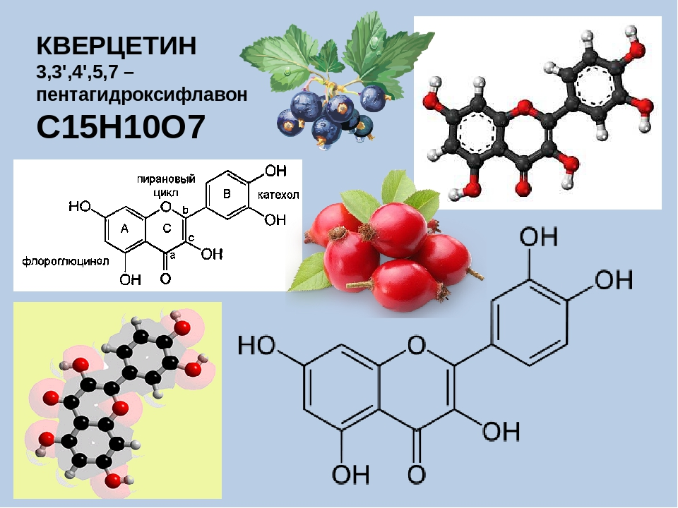 КВЕРЦЕТИН 3,3',4',5,7 – пентагидроксифлавон С15H10O7