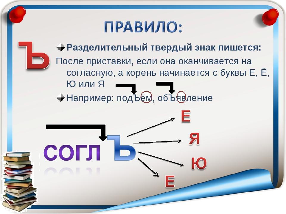 слова с твердым знаком на русском языке