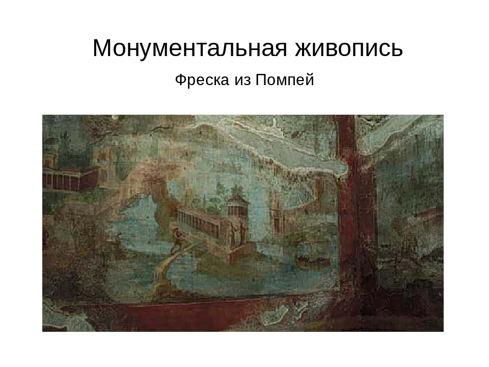 Монументальная живопись Фреска из Помпей
