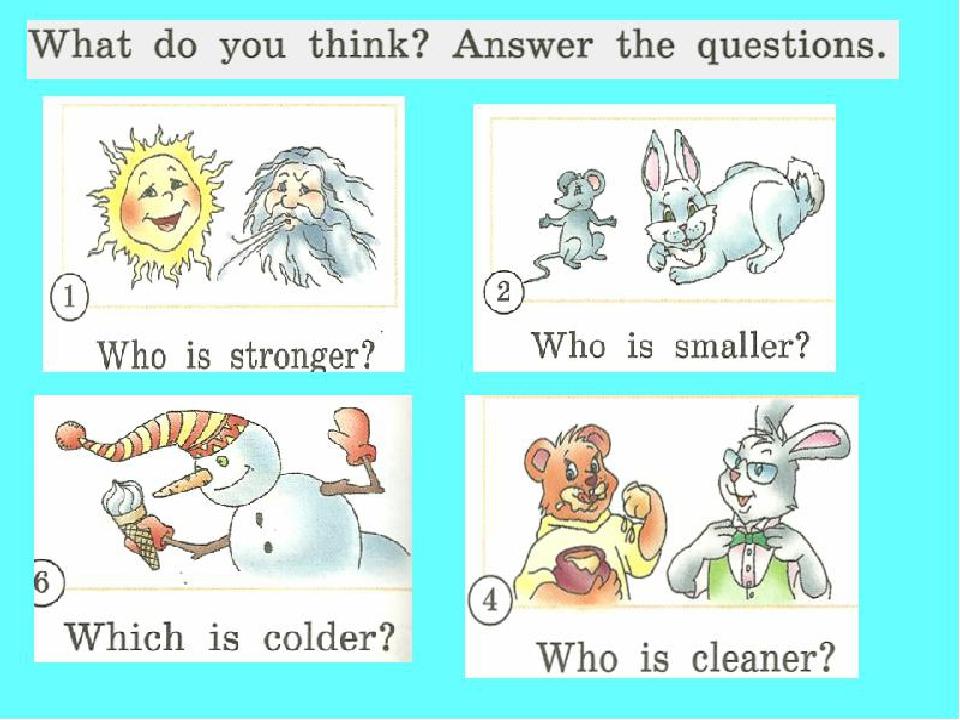 Картинки по теме степени сравнения прилагательных в английском