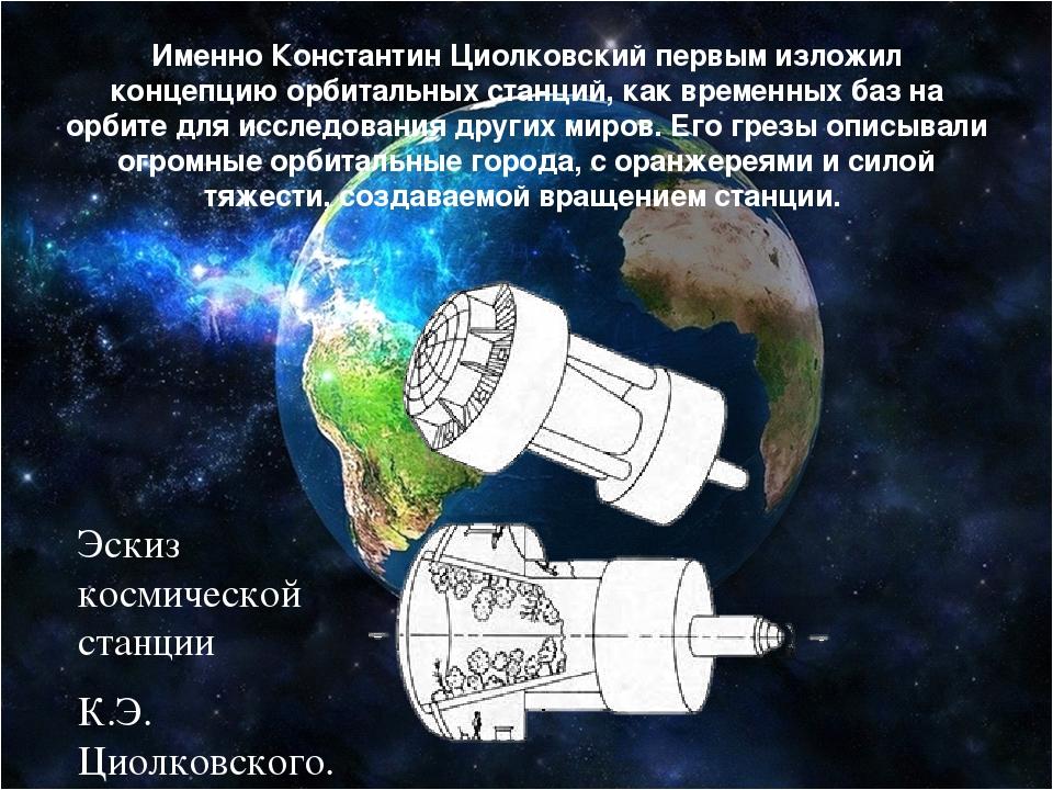 Именно Константин Циолковский первым изложил концепцию орбитальных станций, к...
