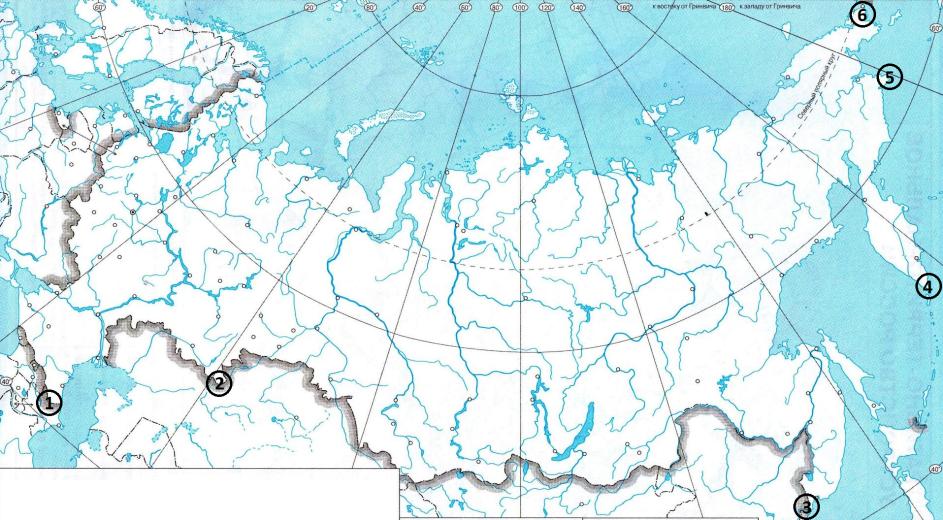 контурная карта россии фото есть