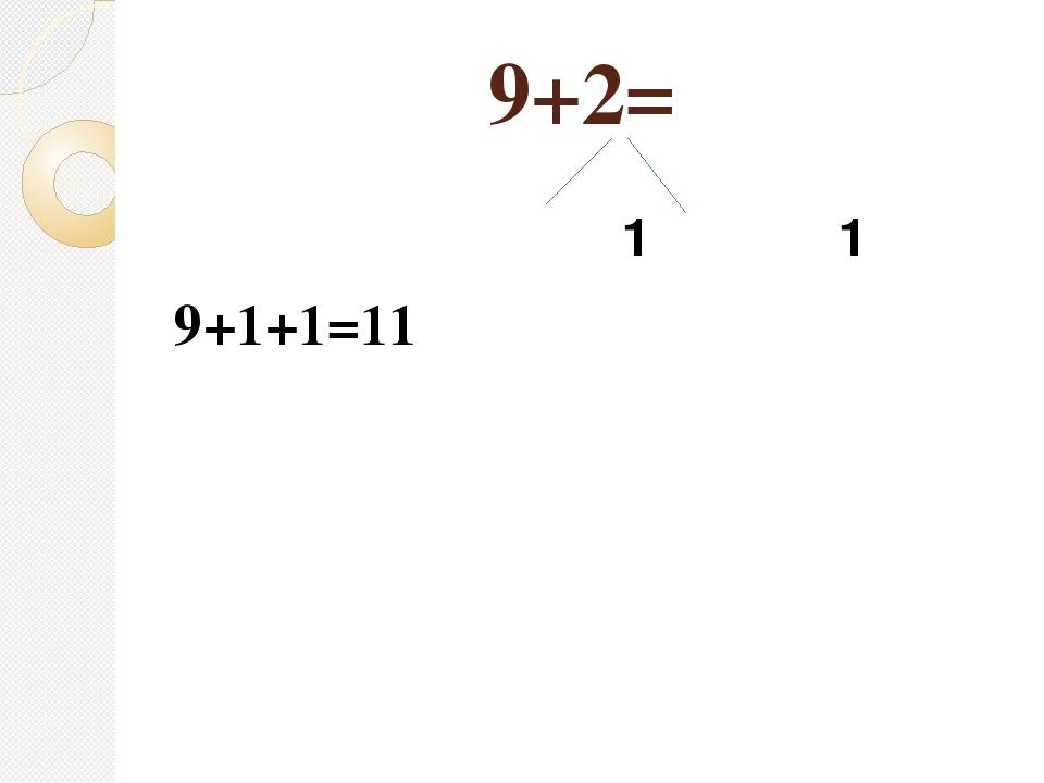 9+2= 1 1 9+1+1=11