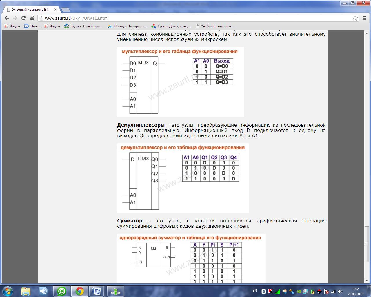 схема восьмиразрядного сумматора