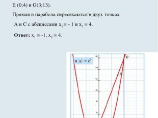 Пример 1.Решим уравнение x2 – 3x – 4 =0. Запишем уравнение в виде x2 = 3x +