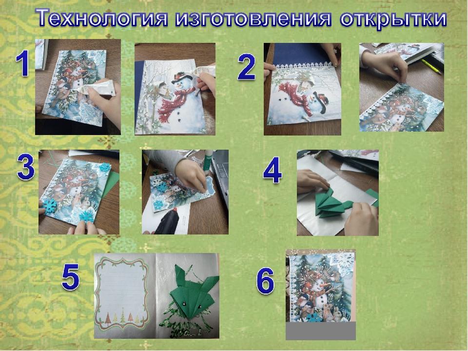 как изготавливать открытки производство