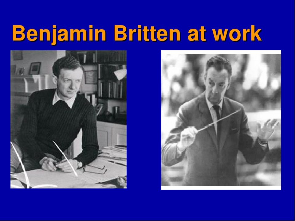 Benjamin Britten at work