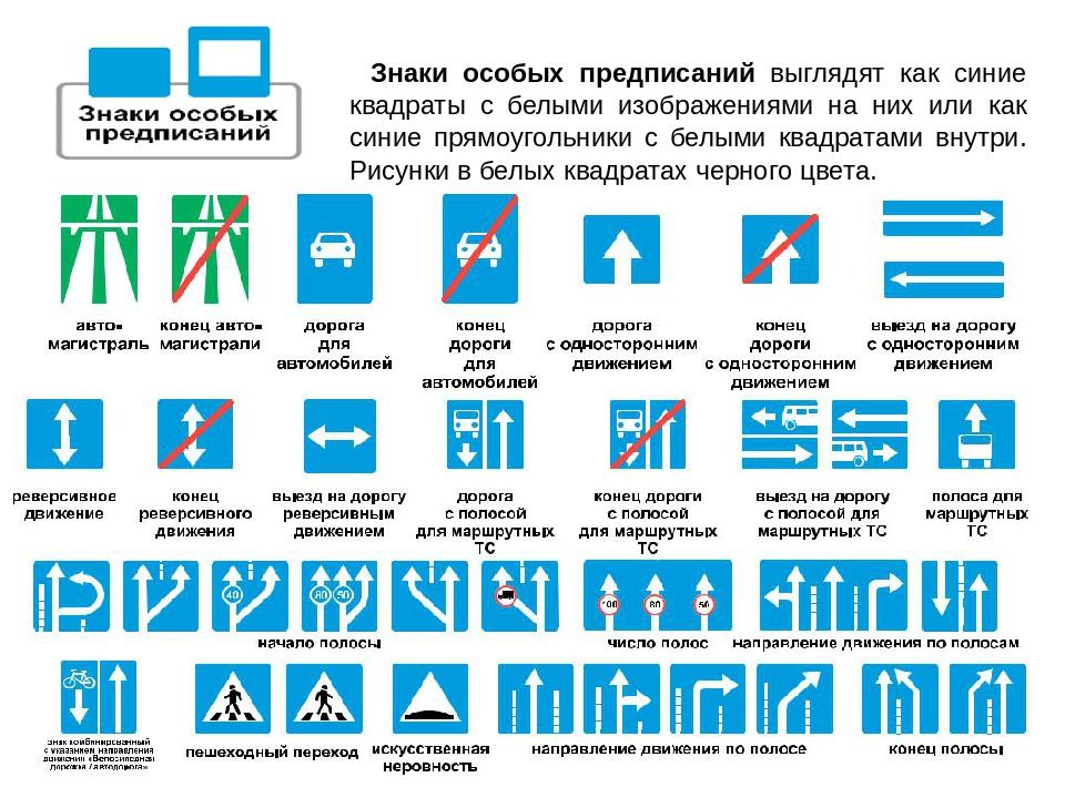 дорожные знаки особого предписания картинки с названиями