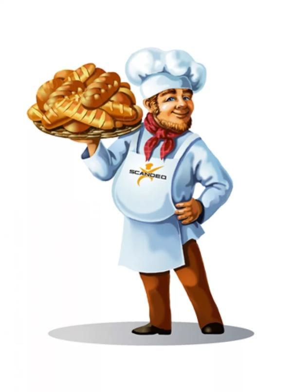 рисунок пекарь с хлебом него все ваши