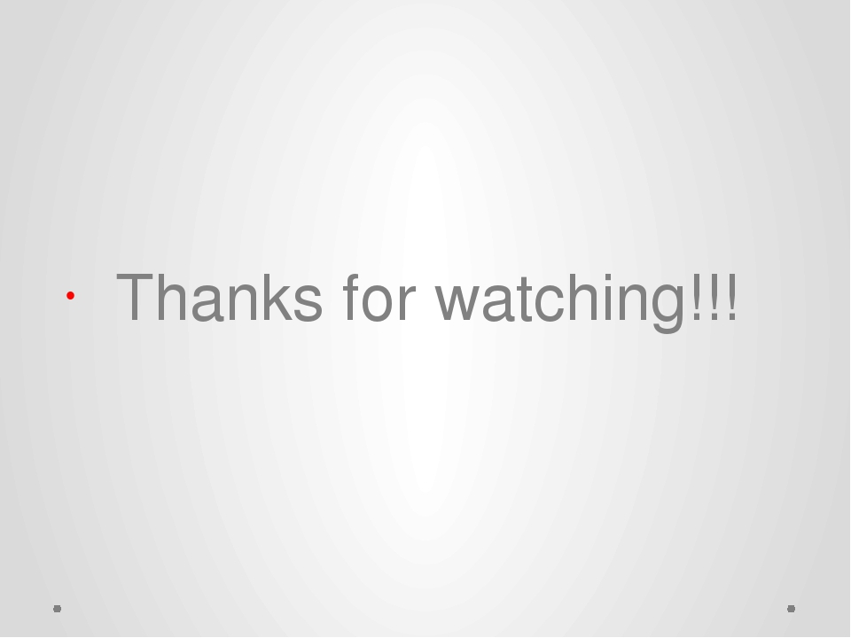 Thanks for watching!!!