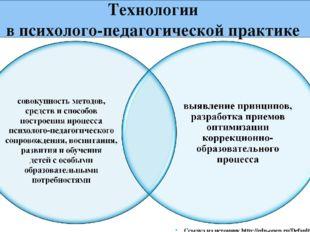 Технологии в психолого-педагогической практике Ссылка на источник http://edu-