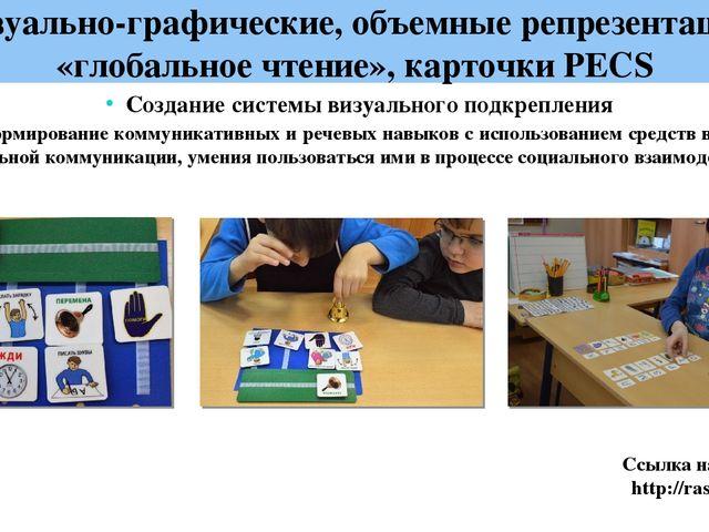 Визуально-графические, объемные репрезентации, «глобальное чтение», карточки...