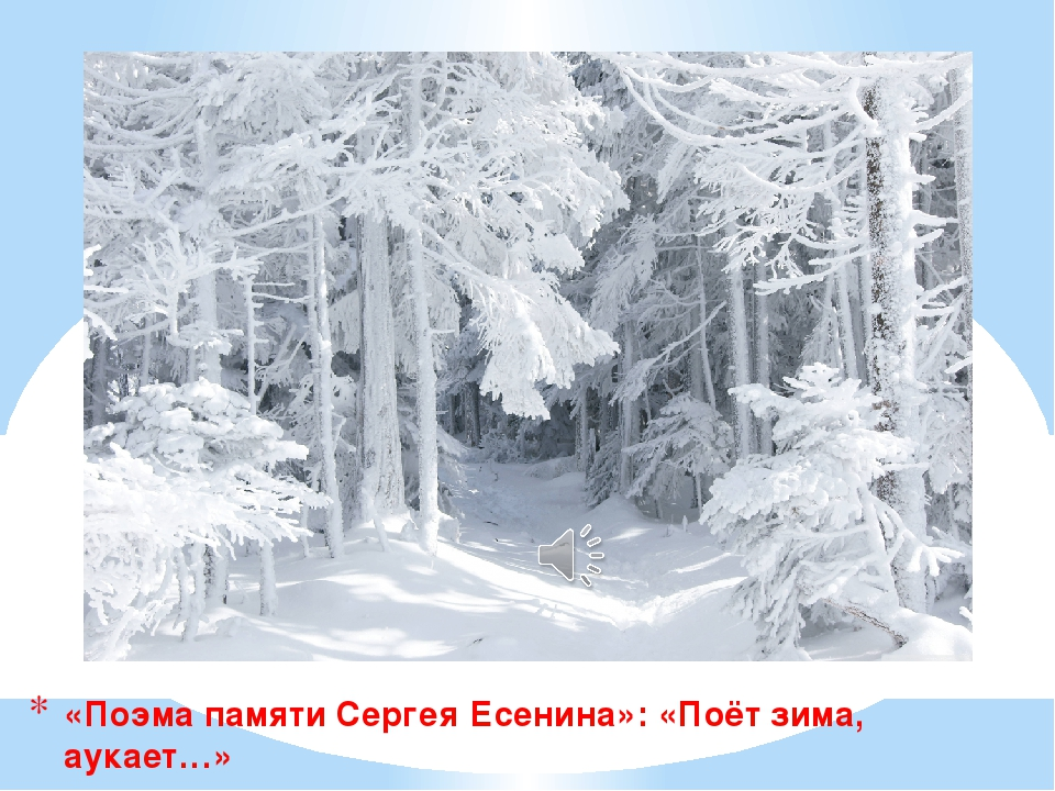 «Поэма памяти Сергея Есенина»: «Поёт зима, аукает…»