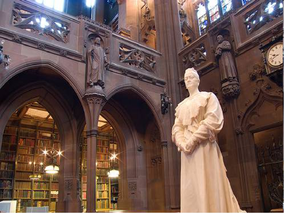 The John Rylands Library It was built in the 1890s in memory of a Manchester...