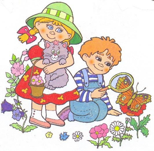 Рисованные картинки детей на прогулке