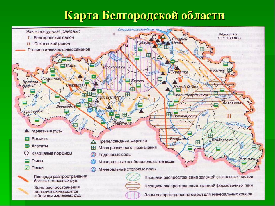 Карта Белгородской области