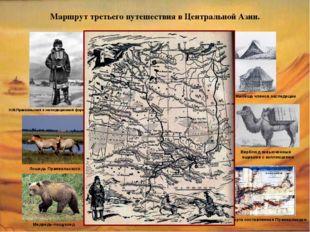 Маршрут третьего путешествия в Центральной Азии. Н.М.Пржевальский в экспедици