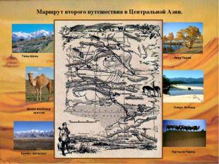 Маршрут второго путешествия в Центральной Азии. Тянь-Шань Хребет Алтынтаг Рек