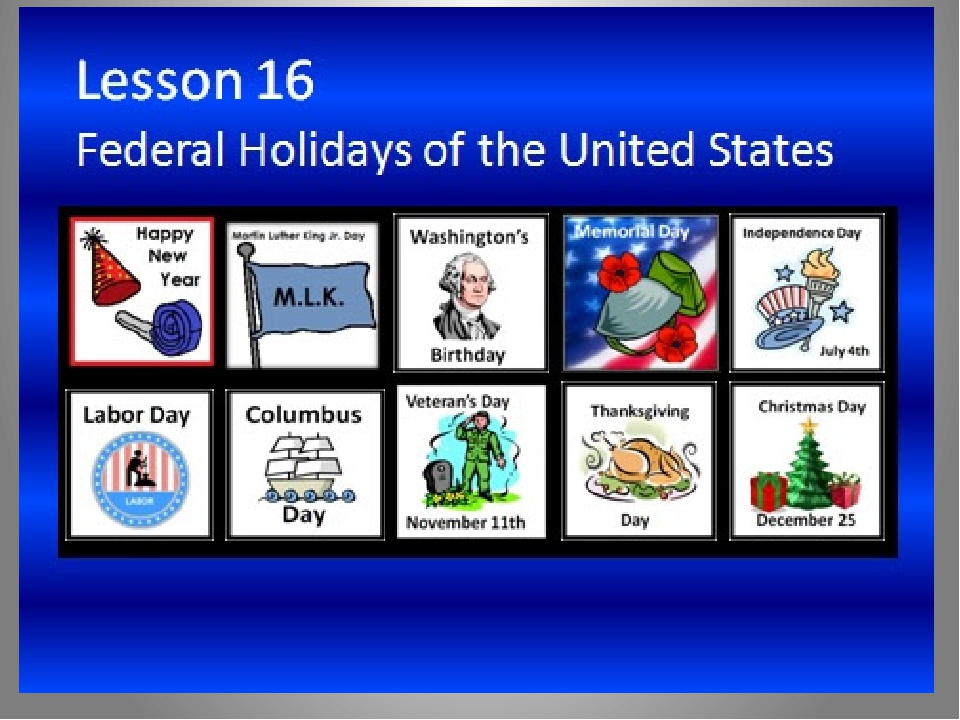 federal holidays in the united states Public holidays in the united states most employers follow a holiday schedule similar to the federal holidays of the united states, with exceptions or additions.