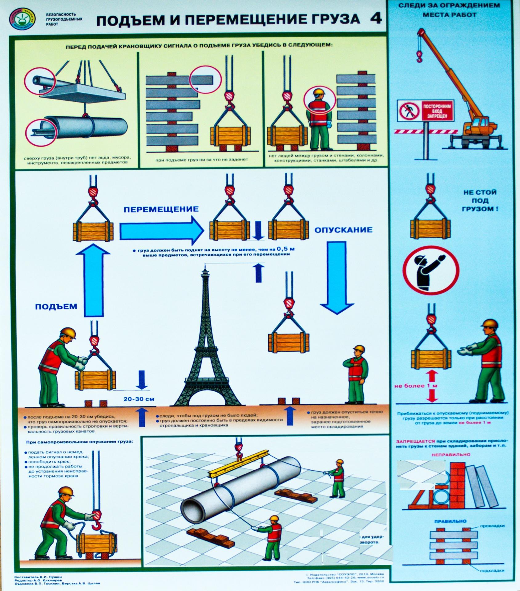 составления стропальщик инструкция в картинках шили специально