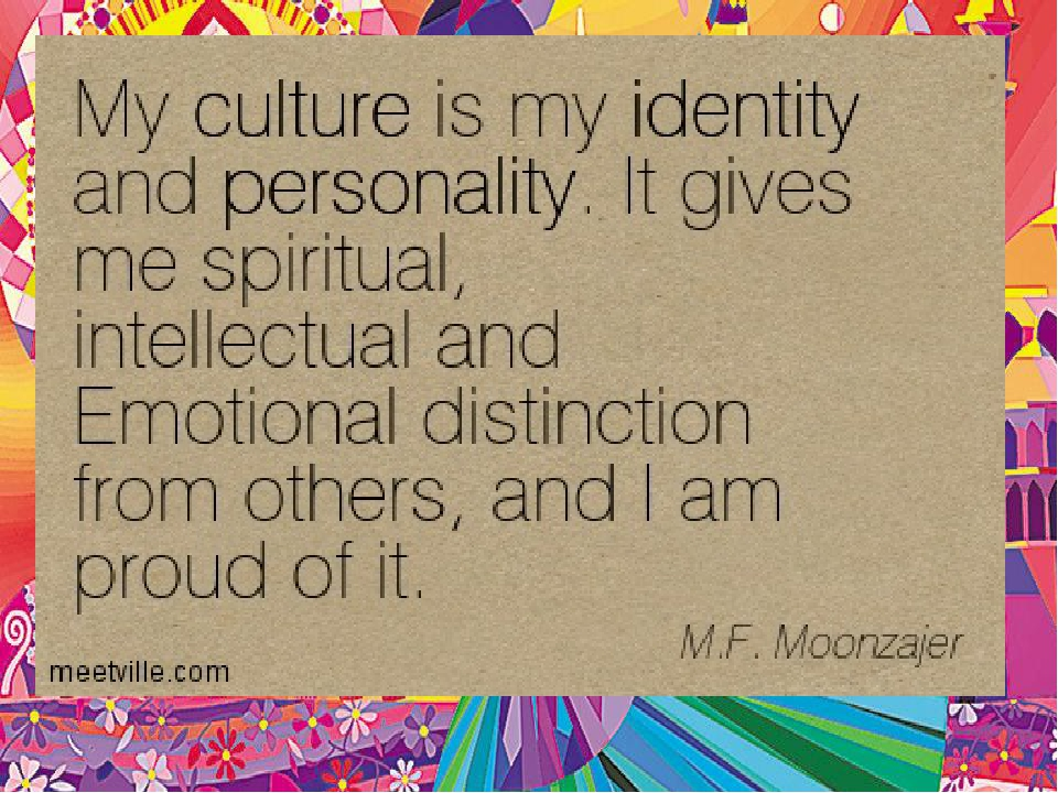 my cultural identity How can the answer be improved.