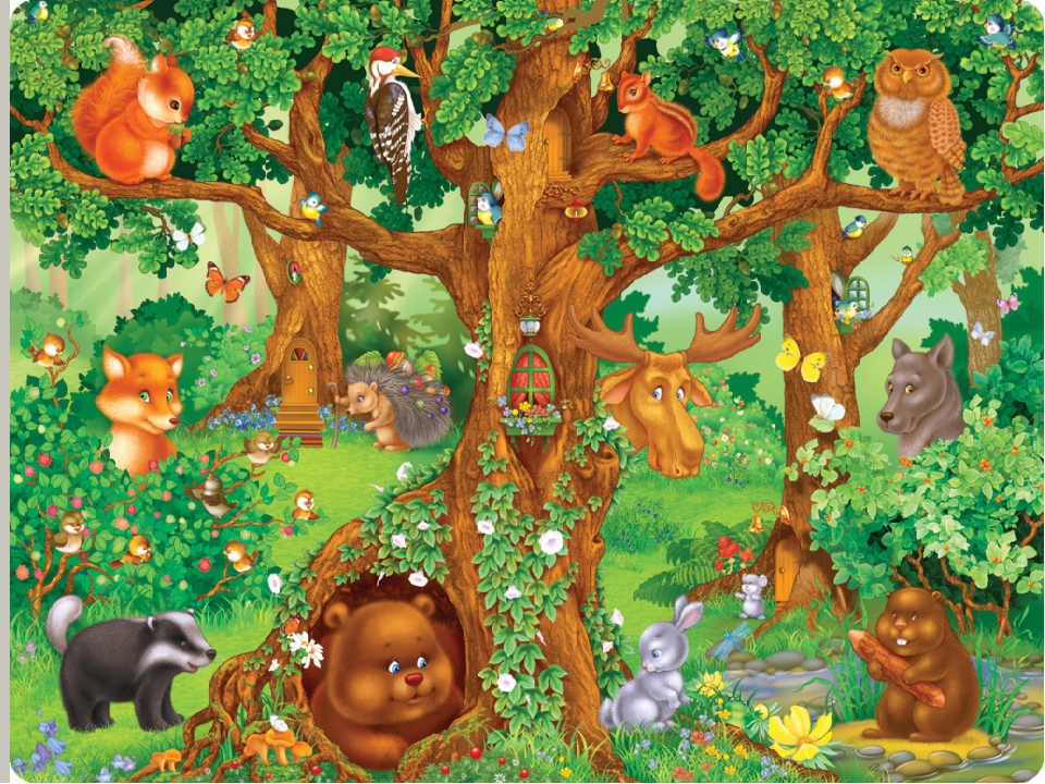 Картинка леса в дет сад